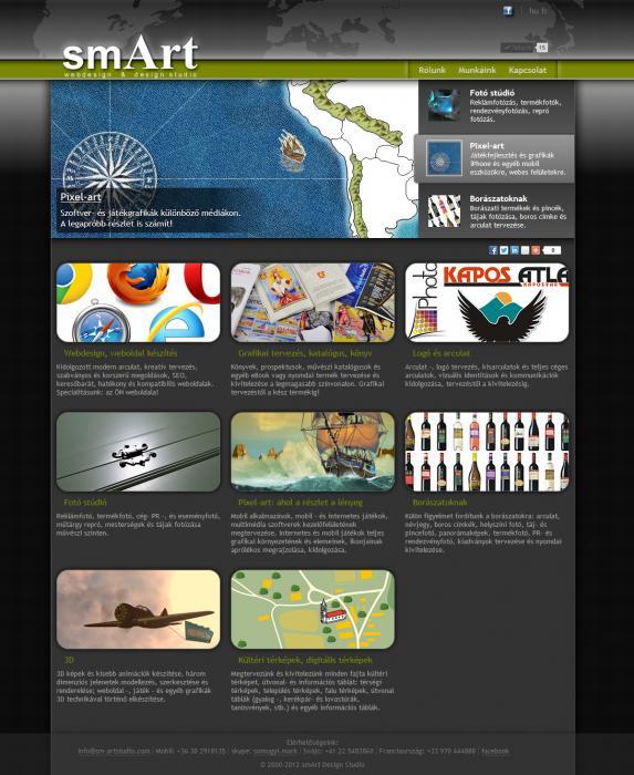 smArt web design & design studio weboldal